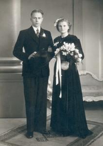 trouwfoto Harm en IJnskje 1949